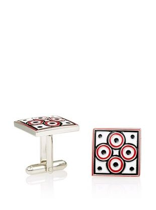 L2 Red Quad Circles Cufflinks