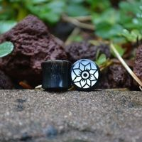 Mother of pear eyelet plugs