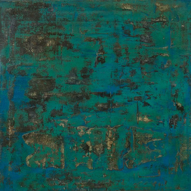 tief / deep   60 x 60 cm, Painting, Size# 00258