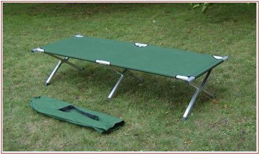 Campingové zahradní skládací hliníkové lehátko -zelené - 1
