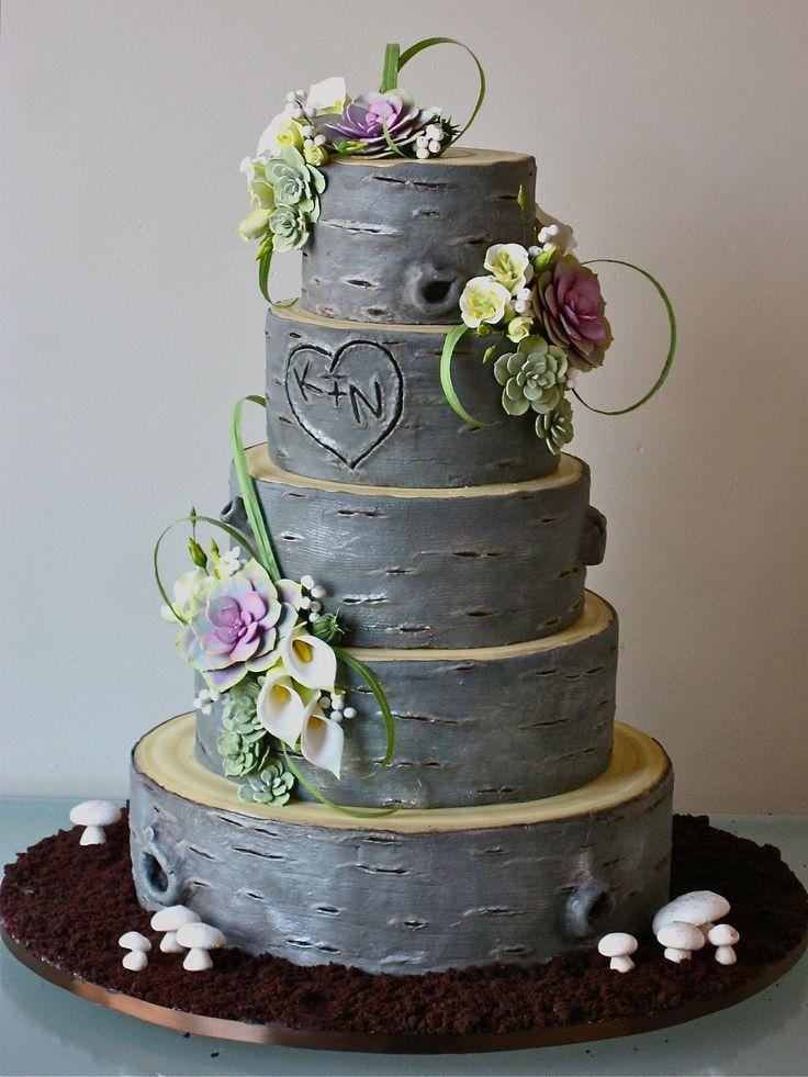 birchwood cake: Wedding Ideas, Tree Trunks, Cake Ideas, Wedding Cakes ...