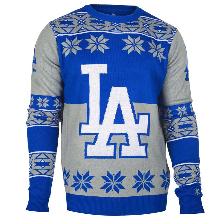 Los Angeles Dodgers Official MLB Big Logo Ugly Crew Neck Sweater ...