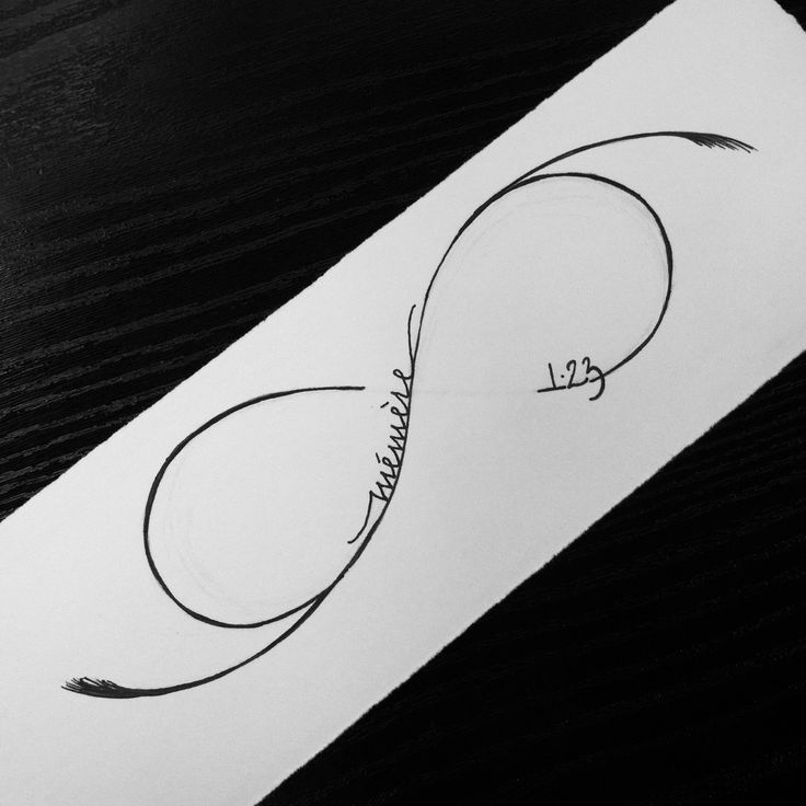 infinity+symbol | infinity symbol with 'memere' and '1.23′ to commemorate kate ...