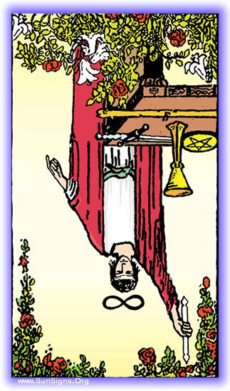 Tarot - Major Arcana - The Magician – Inverted Meaning