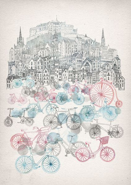 Old Town Bikes Art Print by David Fleck | Society6