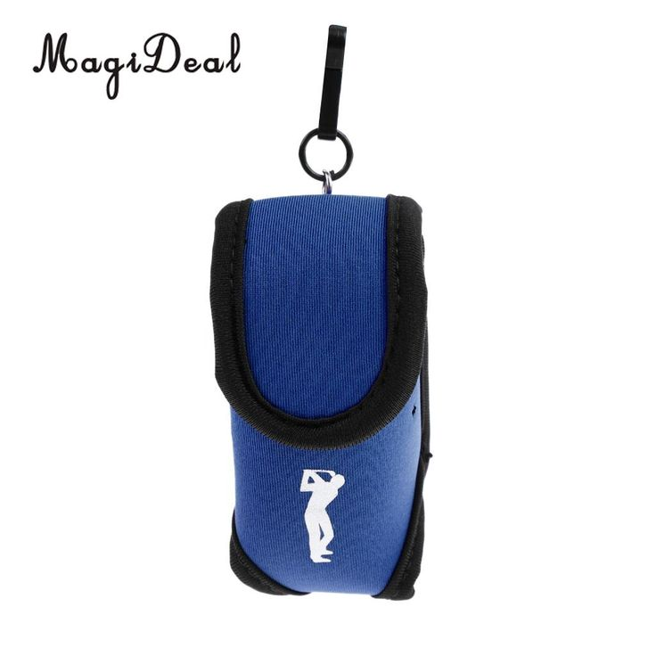 MagiDeal Super Elastic Neoprene SBR Mini Portable Golf Storage Bag Holder Pouch Small Waist Pack Balls Tees Accessories Blue //Price: $3.36 & FREE Shipping //     #hashtag4
