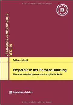 Dr. Tobias J. Schmid | Es ist heute nicht ungewöhnlich, als Führungskraft den Begriff der Empathie zu benutzen. An vielen Stellen werden die positiven Wirkungen empathischen Verhaltens beschrieben und es wird für Empathie geworben. |  Die Promotion erfolgte im Jahr 2010 an der Steinbeis-Hochschule Berlin bei Prof. Dr. Andreas Aulinger.