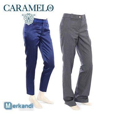 CARAMELO pantaloni donna all'ingrosso #88892 | Abbigliamento donna | merkandi.it