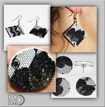 3d printed Earring with Handmade finishing
