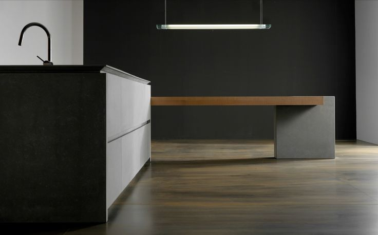 CUISINE EN CIMENT AVEC ÎLOT WIND FRENCH GRAY COLLECTION WIND BY TONCELLI CUCINE | DESIGN FEDERICA TONCELLI