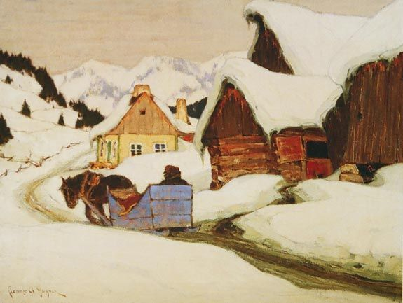 Clarence Gagnon, A Laurentian Homestead, 1924