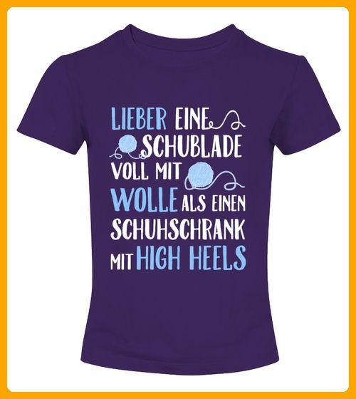 Tshirt Shirt  Wolle High Heels Handarbeiten Stricken lustig - Shirts für schwester (*Partner-Link)