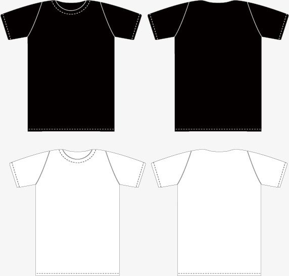 Download Vector Black And White T Shirt Template Front And Back Png And Vector Free T Shirt Design Black And White T Shirts T Shirt Png