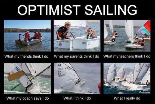 Let's pretend I actually sailed opti....