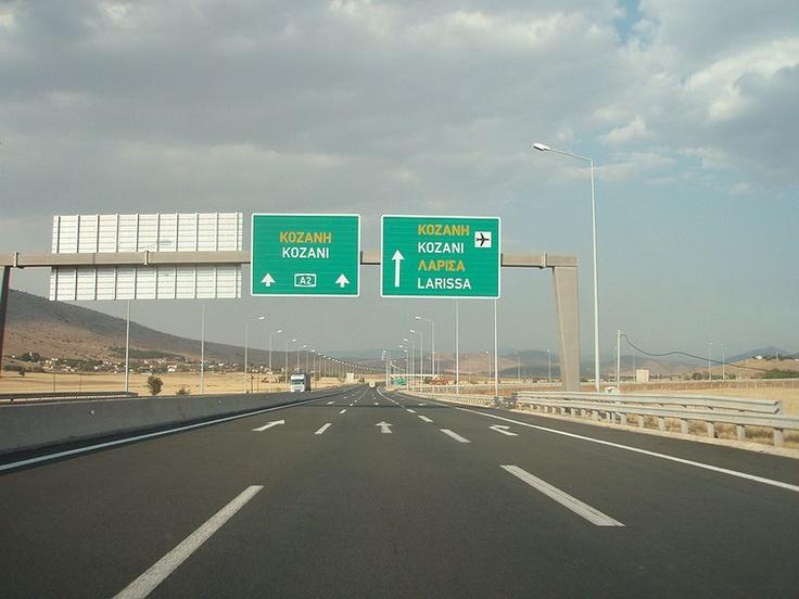 Egnatia Odos on the way to Kozani