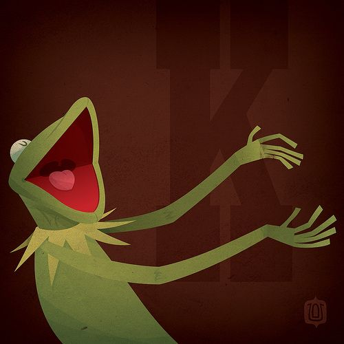 K is for Kermit the Frog by David Vordtriede