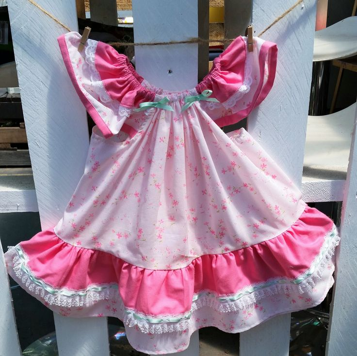 Girl's dress, size 18-24 months, pink, lace and frills, hand-sewn, summer dress, girl's present, baby present, unique, one-of-a-kind, by LittleLarkClothing on Etsy