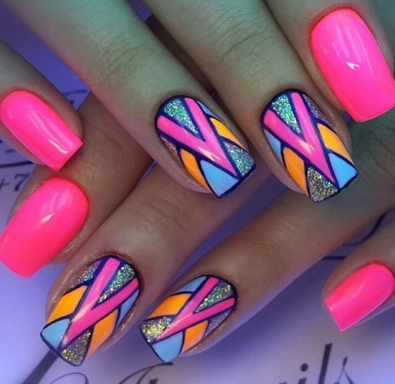 Different Color Shade Nail Arts Creative