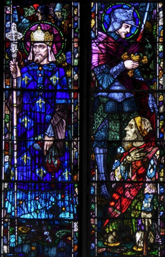 More on Martinmas - Feast of St Martin of Tours 11th November from Roaring Waters Journal website.  Image - Harry Clarke Window of St Martin.