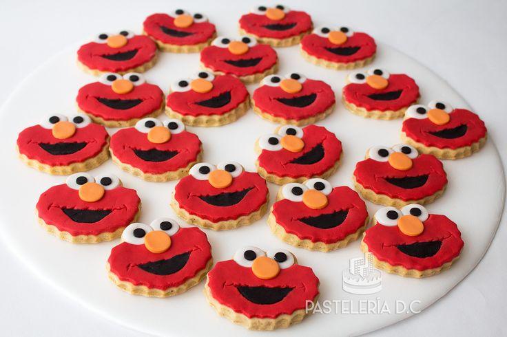 Galletas con diseño de Elmo / Elmo cookies.
