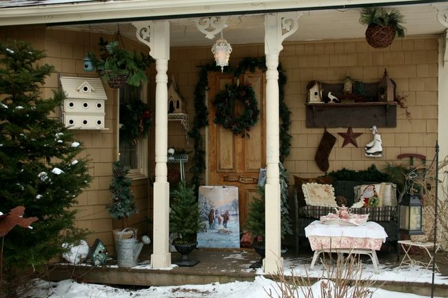 cozy front porch even in the winter
