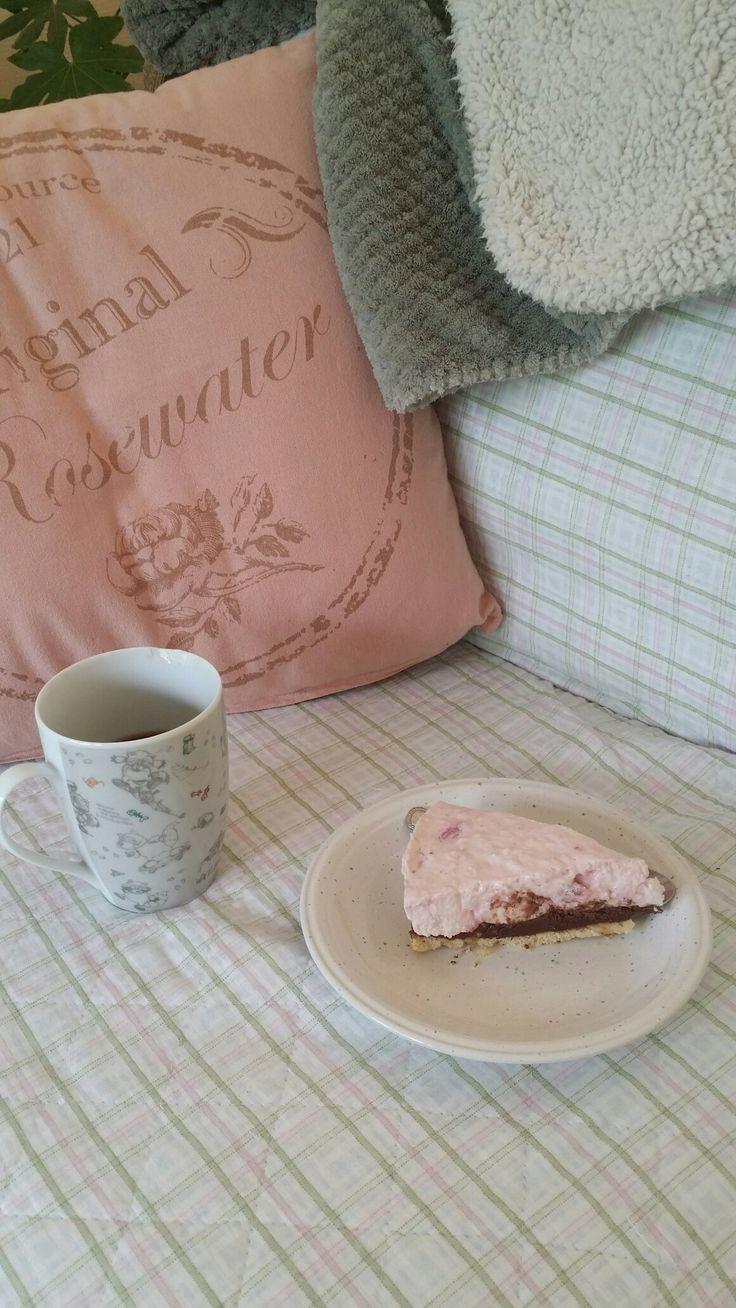 Luie ochtend met koffie en zelfgemaakte/verse taart 😍😍