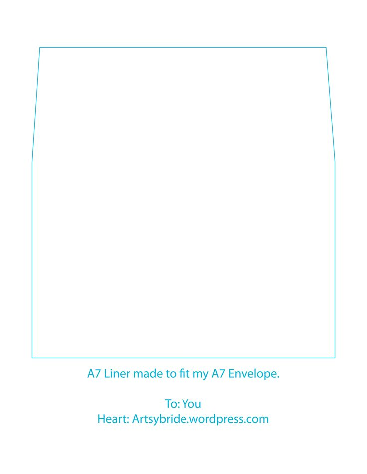 A7 Envelope Template. Handwritten Envelopes Addressing Template