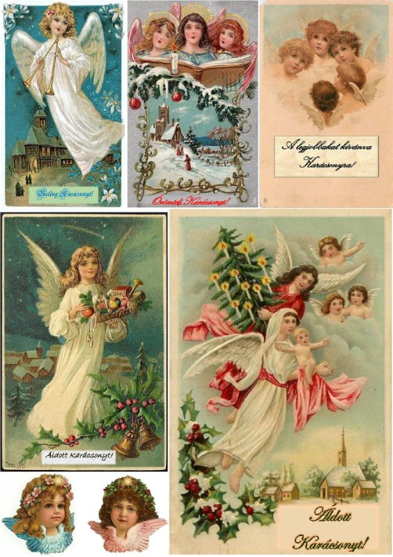 Viktoriánus karácsonyi ajándékkártyák
