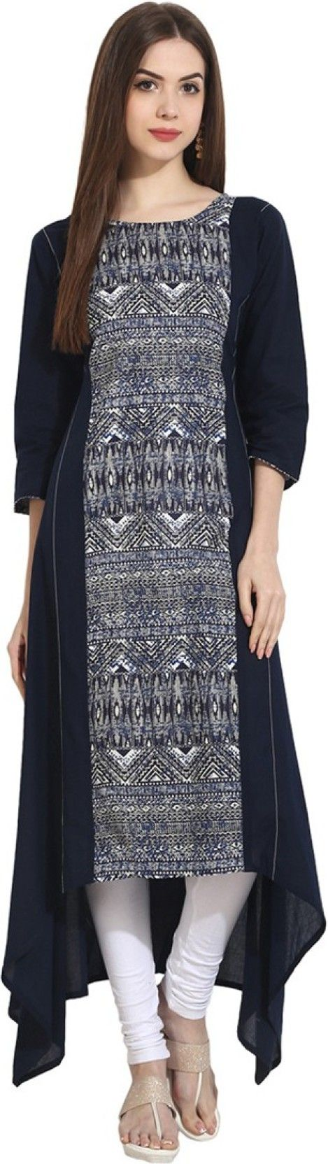 Buy Nayo Printed Women's A-line Kurta  (Multicolor) at Rs. 1049 only
