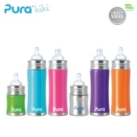 Die neue Pura Kiki Baby Trinkflasche 100% Plastikfrei aus Edelstahl #die-besten-stoffwindeln.de