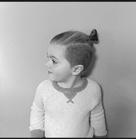 Toddler Man Bun Kahleb Pinterest Frisyrer