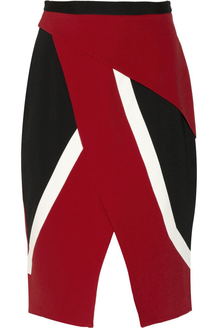 Peter Pilotto|Farah wrap-effect crepe skirt|NET-A-PORTER.COM #luxury #fashion