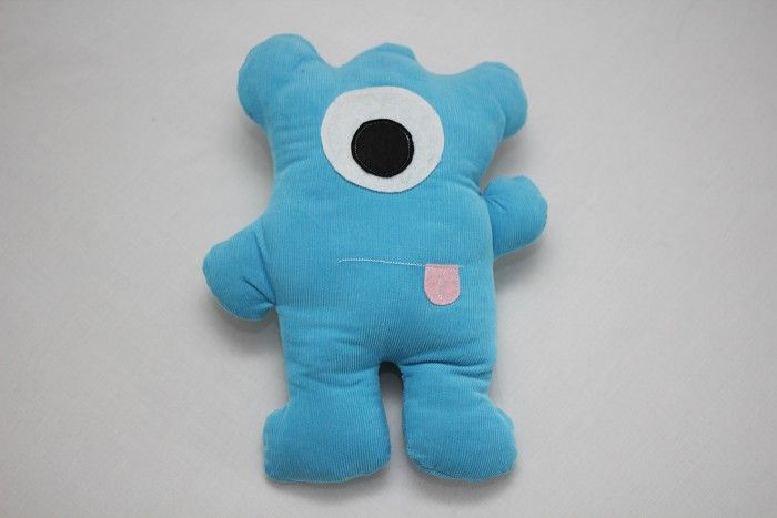 """Large Blue Cord """"Monster"""" Softie (32cm high)"""