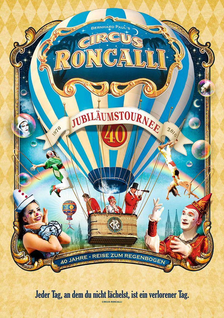 Jubiläumsposter - 40 Jahre Circus Roncalli
