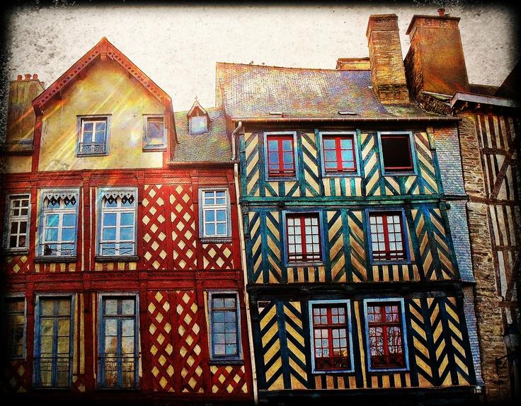 Place Sainte Anne à Rennes, France