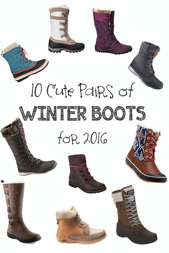 Cozy and cute winter boots for the 2016 season