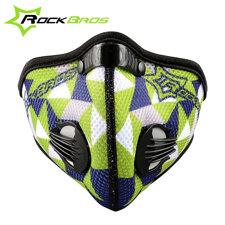 Rockbros Bicycle Cycling Outdoor Sports Masks Activated Carbon Air Filter Mask Anti-Pollution Mouth-Muffle Dust Half Face Covers