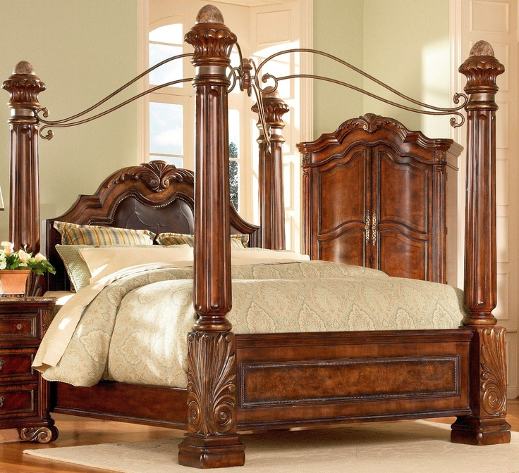 Four Poster Bedroom Sets Art Regal Poster Bedroom Set 142156 Cherry Wood 4 Poster Bed