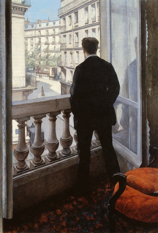 Young Man At His Window  by Gustave Caillebotte, 1875