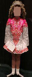 Beautiful White Siopa Rince Irish Dance Dress Solo Costume For Sale
