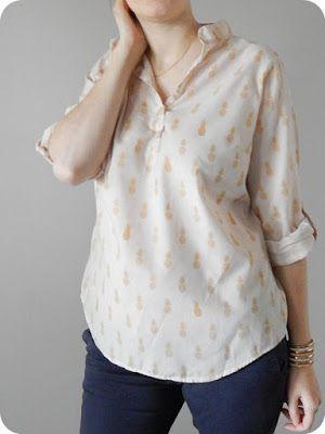 Blouse Carme en A nana's Fabric. L'irbis