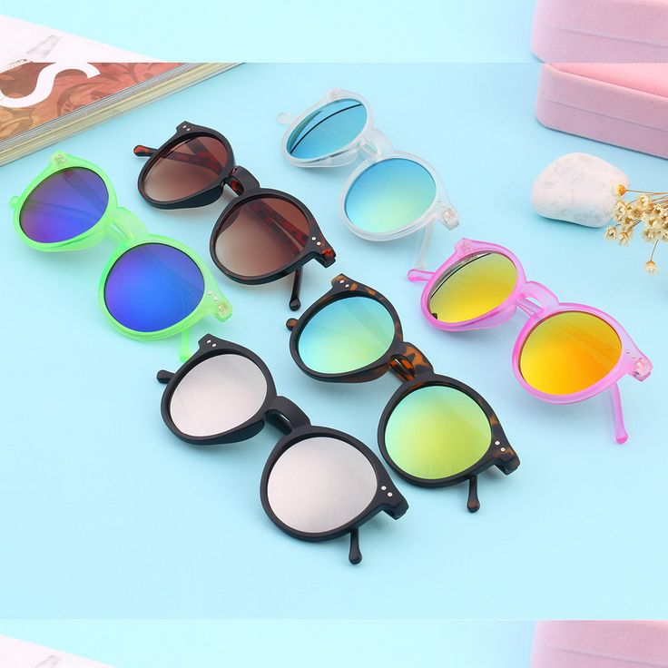 Newest Vintage Retro Unisex Mirror lens Round Glasses Steampunk Sunglasses New