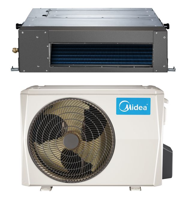 Midea 9000 BTU 19 SEER in Minisplitwarehouse.com Shop our selection of Ducted Mini Split Hyper Heat Pump AC. Price: $1,029.99 ex. tax. Free Shipping and Factory Warranty. Call us 877-770-3548 or visit our webstie.