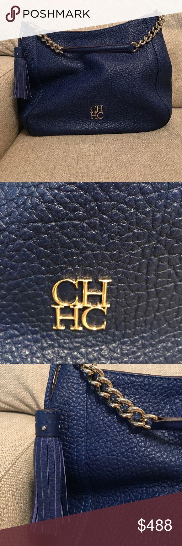 "CH Carolina Herrera Royal Blue Shoulder Bag Like New! Super spacious 13"" wide 11"" height Carolina Herrera Bags Shoulder Bags"