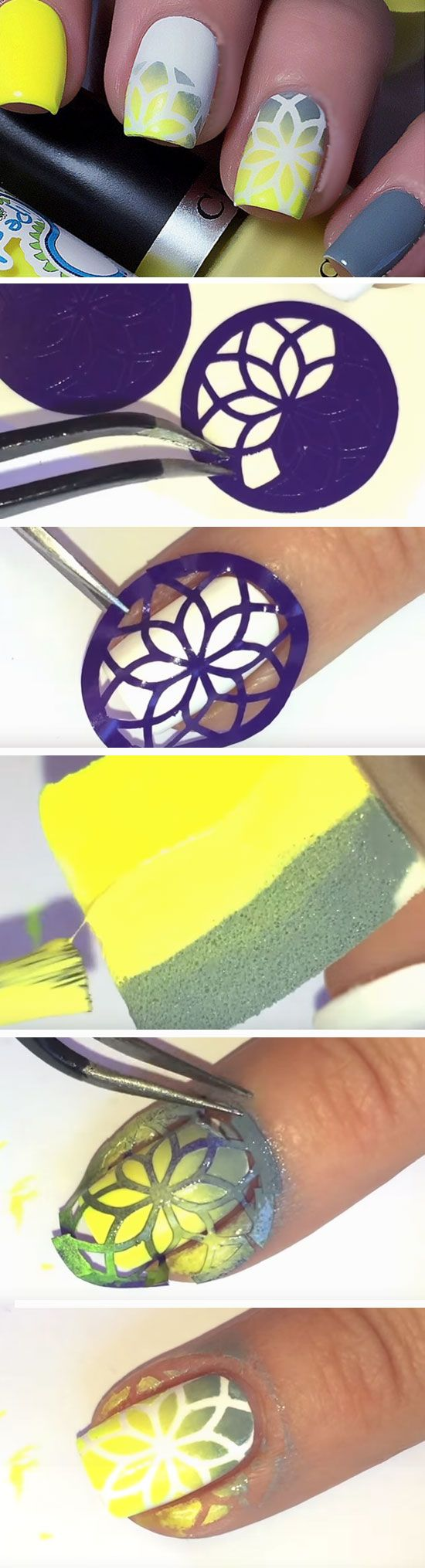 Yellow Gradient | Easy Spring Nail Designs for Short Nails 2016