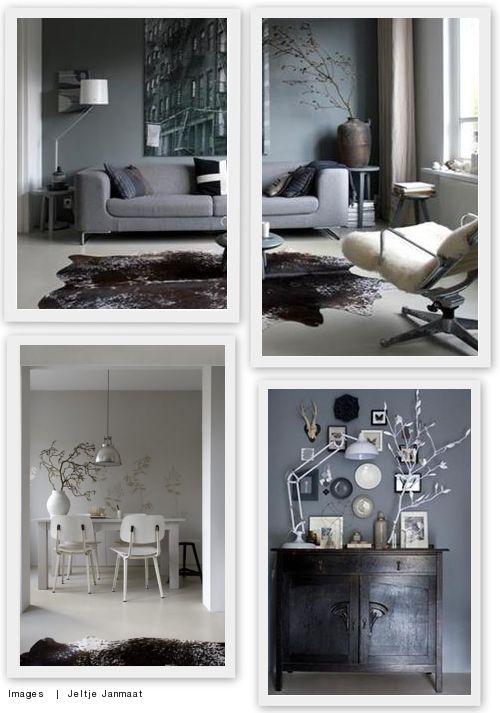 Linksonder Een grijze muur saai? Nee hoor! | villa d'Esta | interieur en wonen