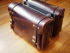 Motorcycle bags by Hollows Leather, via Flickr