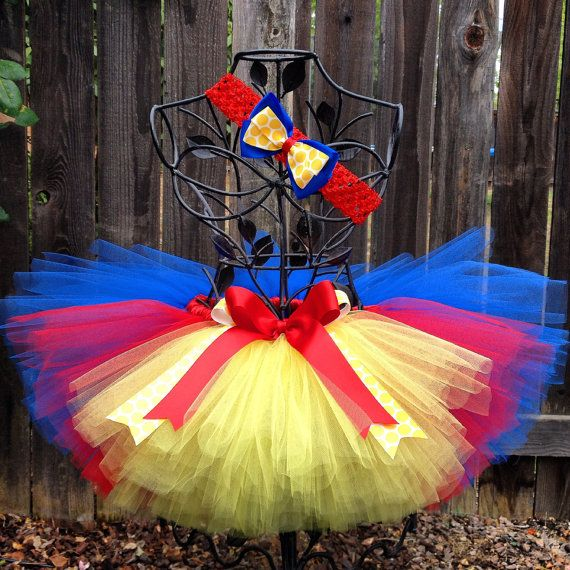 Snow White Inspired Tutu Set, Birthday Tutu Set, Headband, Hair Bow, Halloween Costume, Photo Prop, Childrens Toddler Girls Baby Tutu