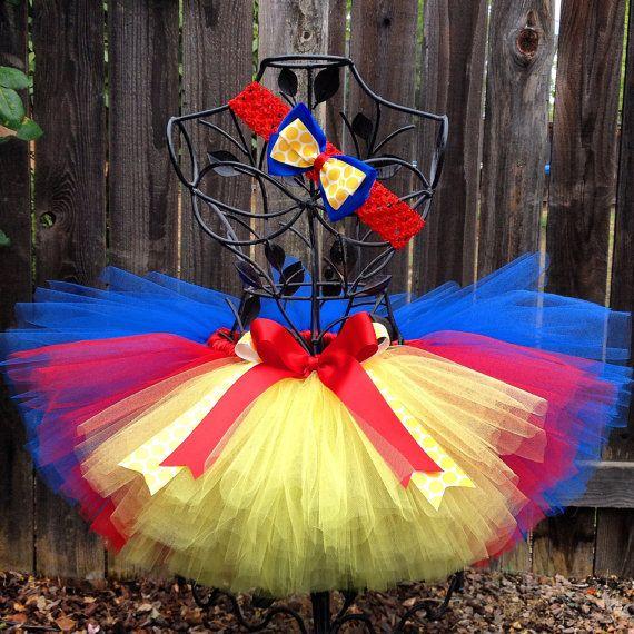 Snow White Inspired Tutu Set, Birthday Tutu Set, Headband, Hair Bow, Halloween Costume, Photo Prop, Childrens Toddler Girls Baby Tutu