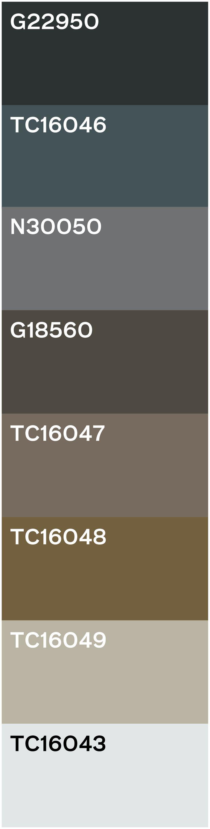 De inspiratie voor dit kleurpalet vindt zijn oorsprong in de stad: het zink van de daken, metaal en hout kleuren, de grijzen en bruinen van beton en bakstenen, de schittering van gebouwen en nat asfalt. De schier oneindige reeks neutralen van een stad. Hier en daar een toefje groen van mossige aanslag op steen geeft net wat levendige natuurlijkheid aan de neutralen. We mixen niet alleen met kleur, maar ook met verschillende stijlen: vintage, industrieel, klassiek, modern em geometrisch.